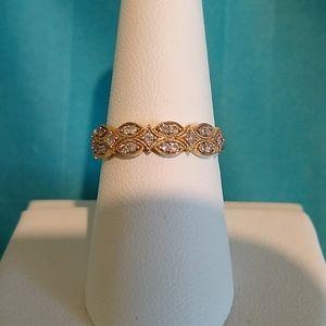 14K Yellow Gold Antique Style Diamond Ring